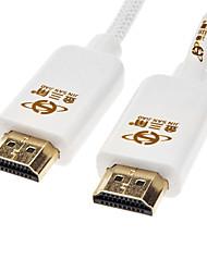 jsj® hdmi v1.4 m / m de alta velocidad 3d apoyo cable hdmi 1080p estándar (1,8 m)