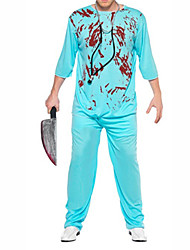 Halloween Costume de cruelles tueur Sky Blue Suit Men