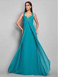Formal Evening/Military Ball Dress - Jade Plus Sizes Sheath/Column V-neck Sweep/Brush Train Chiffon