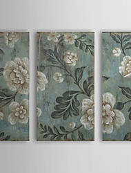 Hand Painted Oil Painting Floral with Stretched Frame Set of 3 1308-FL0755