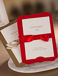 Personalized Pretty Classic Wedding Invitation With Ribbon Sash-Set Of 50/20(More Colors)