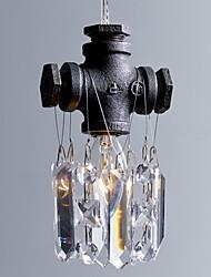 América del Norte-estilo característico Retro 1 Lámpara colgante en diseño de tuberías