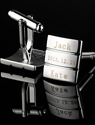 Gift Groomsman Personalized Simple Stripe Cufflinks