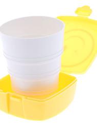 Square Compact Smiley Face Telescopic Cup (Random Color)