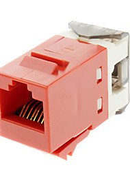 Cat6 Soco Baixo Keystone Jack Red