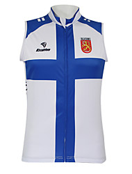 Kooplus2013 Championship Jersey Finland 100% Polyester Wicking Fibers Sleeveless Cycling Vest with Reflective Tape