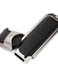 2GB PU Leather Texture fibbia in metallo chiavetta USB Flash Drive