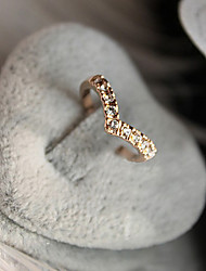 Ring,Band Rings,Jewelry Crystal / Alloy Gold8½