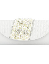 Fashion Satin With Waterproof Fabric And Rhinestone/Imitation Pearl Special Occasion Clutches/Shoulder Bag