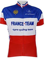 KOOPLUS® Maillot de Cyclisme Femme / Homme / Unisexe Manches courtes VéloSéchage rapide / Pare-vent / Zip étanche / Zip frontal /