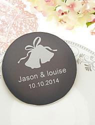 Campanas de boda personalizados Posavasos-Juego de 4 (más colores)