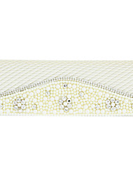 Elegant Satin With Waterproof Fabric And Rhinestone/Imitation Pearl Special Occasion Clutches/Shoulder Bag