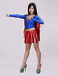 Vestido de Halloween para Mujer Estilo Supergirl Sexy