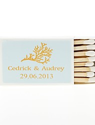 Wedding Décor Personalized Matchbooks - Coral-Set of 12 (More Colors)