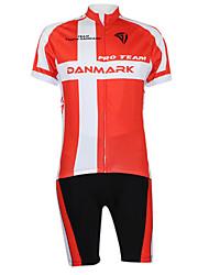 Kooplus2013 Championship Jersey Denmark Polyester&Lycra&Elastic Fabric Cycling Suits(T-Shirt + Pants)