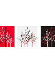 Lona Envuelta Arte botánico árboles Lucky Juego de 3