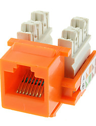 Cat5e Punch Down Keystone Jack Orange