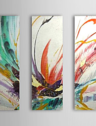 Hand-Painted AbstractModern Traditional Three Panels Canvas Oil Painting For Home Decoration