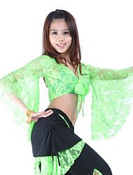 Belly Dance Tops Women's Training Lace 3/4 Length Sleeve