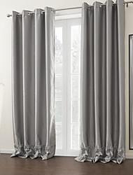twopages® zwei Platten Silber massiv moderne Zimmer Gardinen