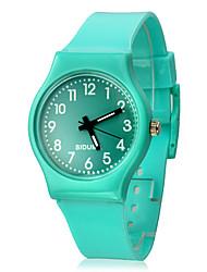 Женские Спортивные часы Кварцевый Группа Конфеты Зеленый / Серый / Фиолетовый бренд-