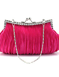 Elegant Silk With Rhinestone Special Occasion/Evening Handbags