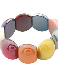 Bracelet d'étonnants Multi-couleurs acryliques femmes