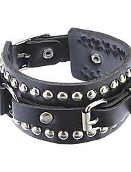 Z&X®  The Influx Of People In Europe And America Rivet Punk Leather Bracelet Christmas Gifts