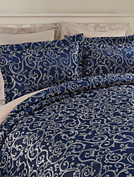 2 Pack Modern Style Blue Jacquard Sham