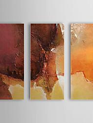Peint à la main Peinture à l'huile abstraite avec cadre étiré Ensemble de 3 1308-AB0740