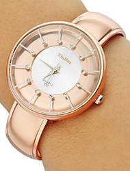 Mulheres Relógio de Moda Quartz Lega Banda Brilhante / Bracelete Marrom marca-