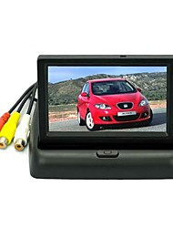 4.3 polegadas LCD a cores de monitor do carro retrovisor com Blacklight LED