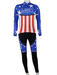 Kooplus2013 Championship América Jersey poliéster e Lycra e elástico Ciclismo Suits Tecido (camisa + calça)