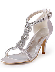 Leatherette Upper Stiletto Heel Sandals With Rhinestone Wedding/ Party Shoes More Colors Available