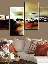 Stretched Canvas Art Abstract Lines Set of 4
