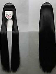 Cosplay Wigs InuYasha Kikyo Black Long / Straight Anime Cosplay Wigs 100 CM Heat Resistant Fiber Female