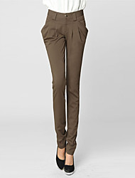 Women's Solid Color Fitted Long Skinny Pants