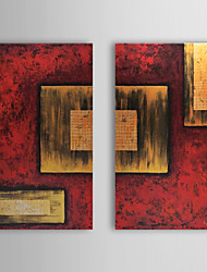 Hand Painted Oil Painting Abstract with Stretched Frame Set of 2 1309-AB0960