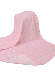 Pink Angel Coral Fleece with Embroidery Baby Blanket