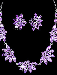 Jewelry Set Women's Birthday / Gift / Party / Special Occasion Jewelry Sets Alloy Rhinestone / Cubic Zirconia Earrings / NecklacesAs the