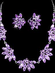 Women's Alloy Jewelry Set Cubic Zirconia/Rhinestone
