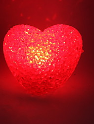 Wedding Décor Crystal Heart Style Red Light