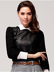 KARORINLAN Women Slim Stricken Bluse
