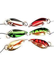 1 pcs Hard Bait Metal Bait Fishing Lures Hard Bait Metal Bait Green Gold Silver Red g/Ounce mm inch,Metal Sea Fishing Freshwater Fishing