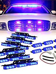 Blue 54xLED Volunteer Vehicle Grill Deck Strobe Warning Lights