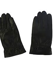 Мужские теплые учета PU перчатки