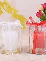 Slid Farbe Kerze mit Glashalter (weitere Farben)
