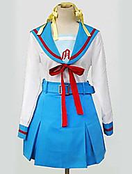 traje de cosplay inspirado por ver haruhi suzumiya chicas de secundaria otoño uniforme.