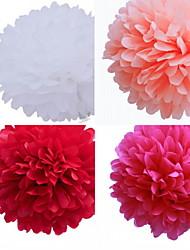 décoration de mariage 8 pouces fleur de papier - jeu de 4 (plus de couleurs)