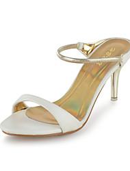 Bon goût similicuir Peep Toe Sling soutient Sandales Parti Chaussures
